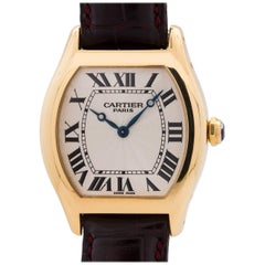 Cartier Yellow Gold Tortue manual wind Wristwatch, circa 1990s