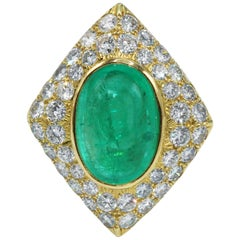 10.00 Carat Colombian Emerald and Diamond Ring