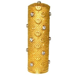 Boucheron Gold and Diamond Lipstick Holder, French, circa 1950