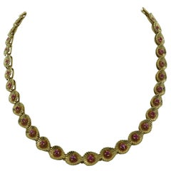 Tiffany & Co. Ruby and Gold Necklace