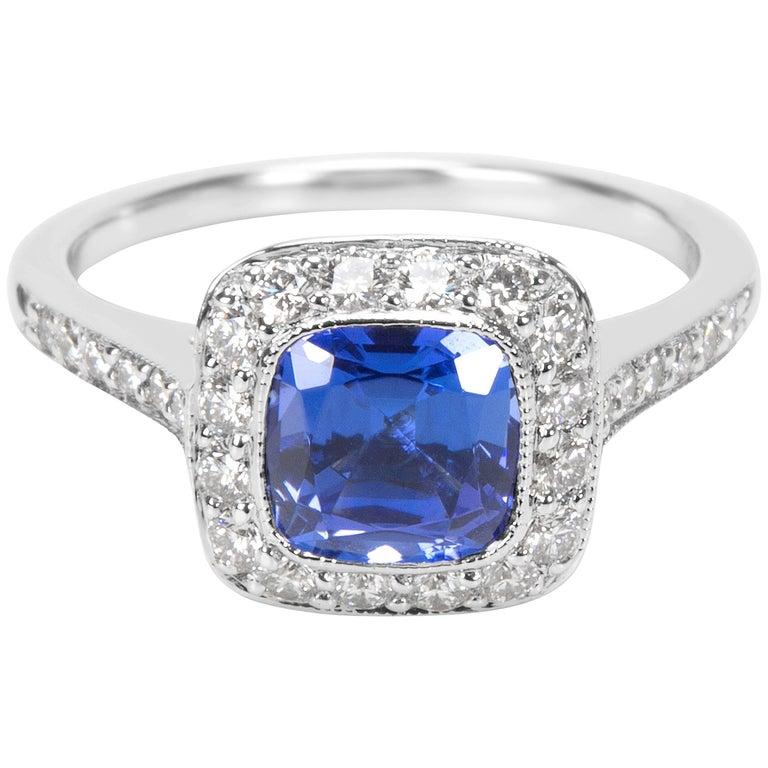Tiffany & Co. Diamond & Tanzanite Soleste Ring in Platinum 0.45 Carats
