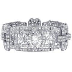 Platinum 23.00 Carat Diamond Bracelet