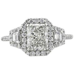 Mark Broumand 2.50 Carat Radiant Cut Diamond Engagement Ring