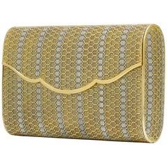 Classic 18 Karat Yellow Gold Mesh Handbag Clutch