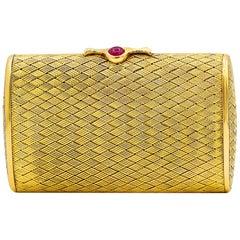 18 Karat Yellow Gold Small Clutch
