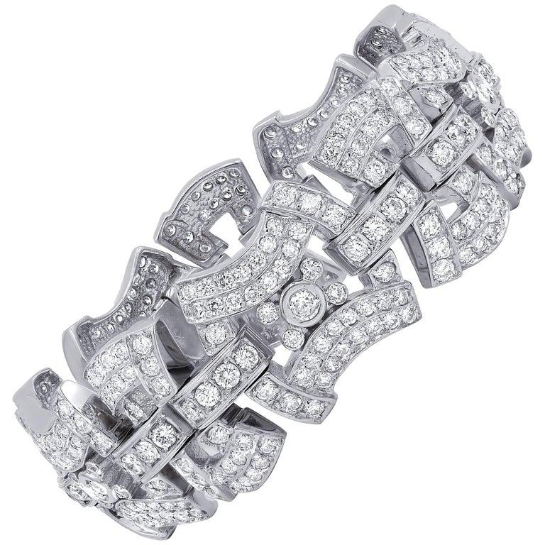 18 Karat White Gold 15.00 Carat Diamond Bracelet