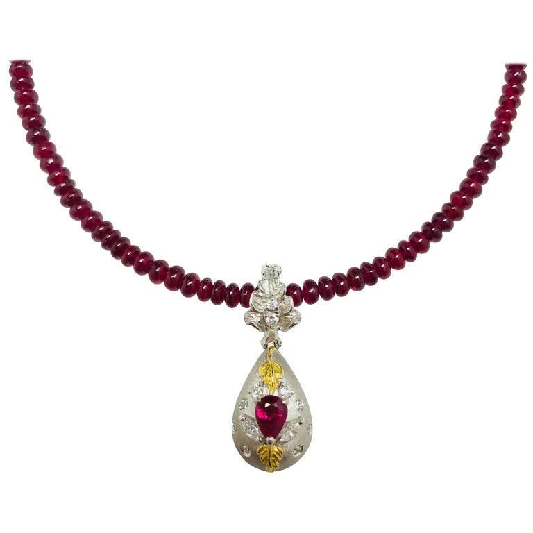 Matsuzaki pear shaped ruby diamond locket pill box gold pendant matsuzaki pear shaped ruby diamond locket pill box gold pendant beads necklace for sale aloadofball Choice Image