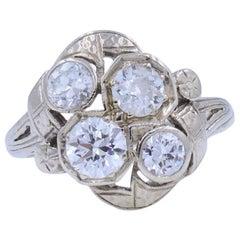 Four-Stone Old European Diamond Ring in 14 Karat Gold