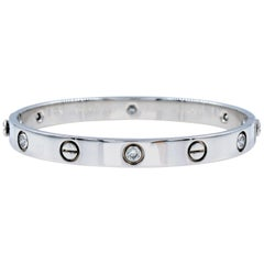Cartier White Gold and Diamonds Love Bracelet