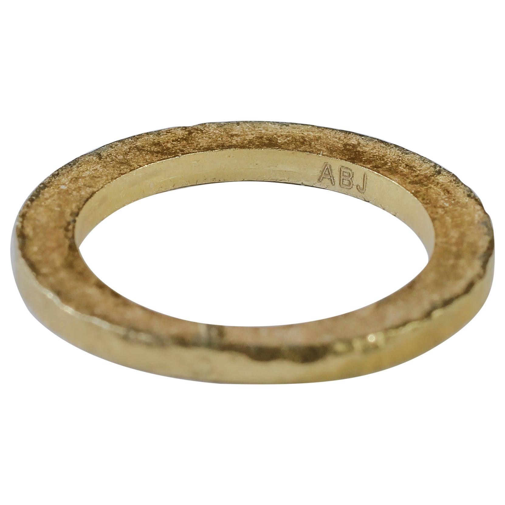 22K Recycled Gold Bridal Wedding Ring Alternative Stacking Fashion Design
