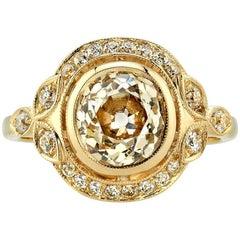 2.01 Carat Cushion Cut Engagement Ring
