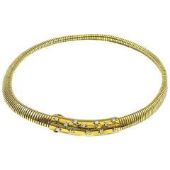 Van Cleef & Arpels Retro Diamond Gold Helene Necklace