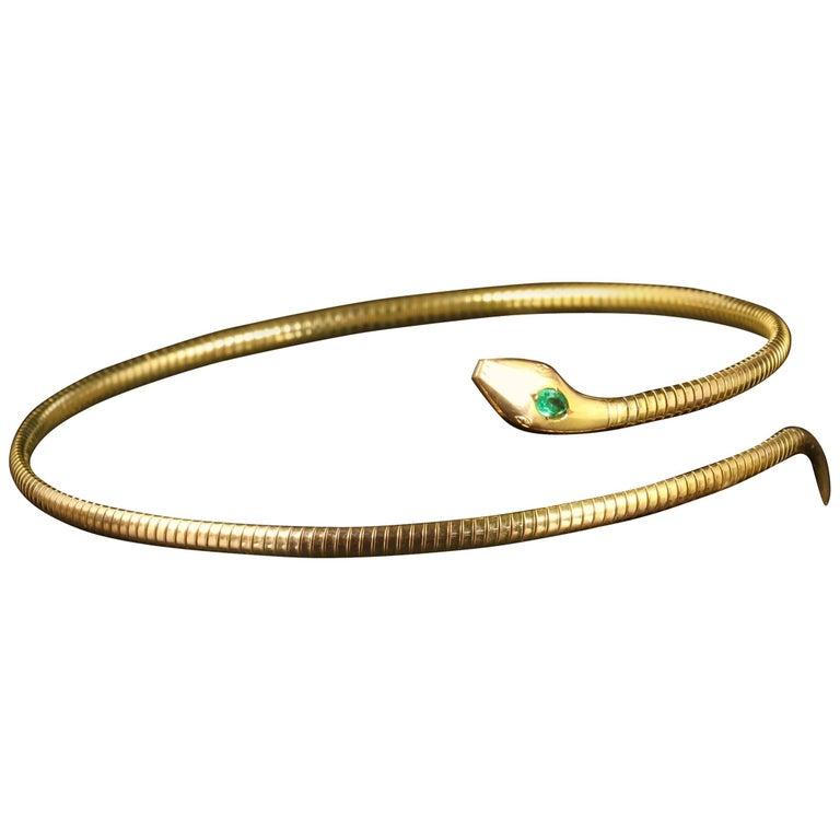 Antique Victorian Snake Collar Necklace, circa 1880