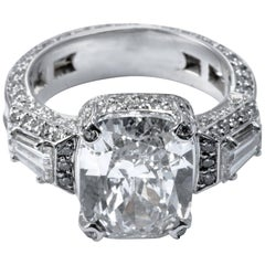 Diamond Statement Engagement Cocktail Ring Band