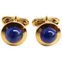 Fine Sapphire 18 Karat Rose Gold Cufflinks