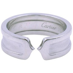 Cartier C De Cartier 18K White Gold Ring Size 53 US 6.5