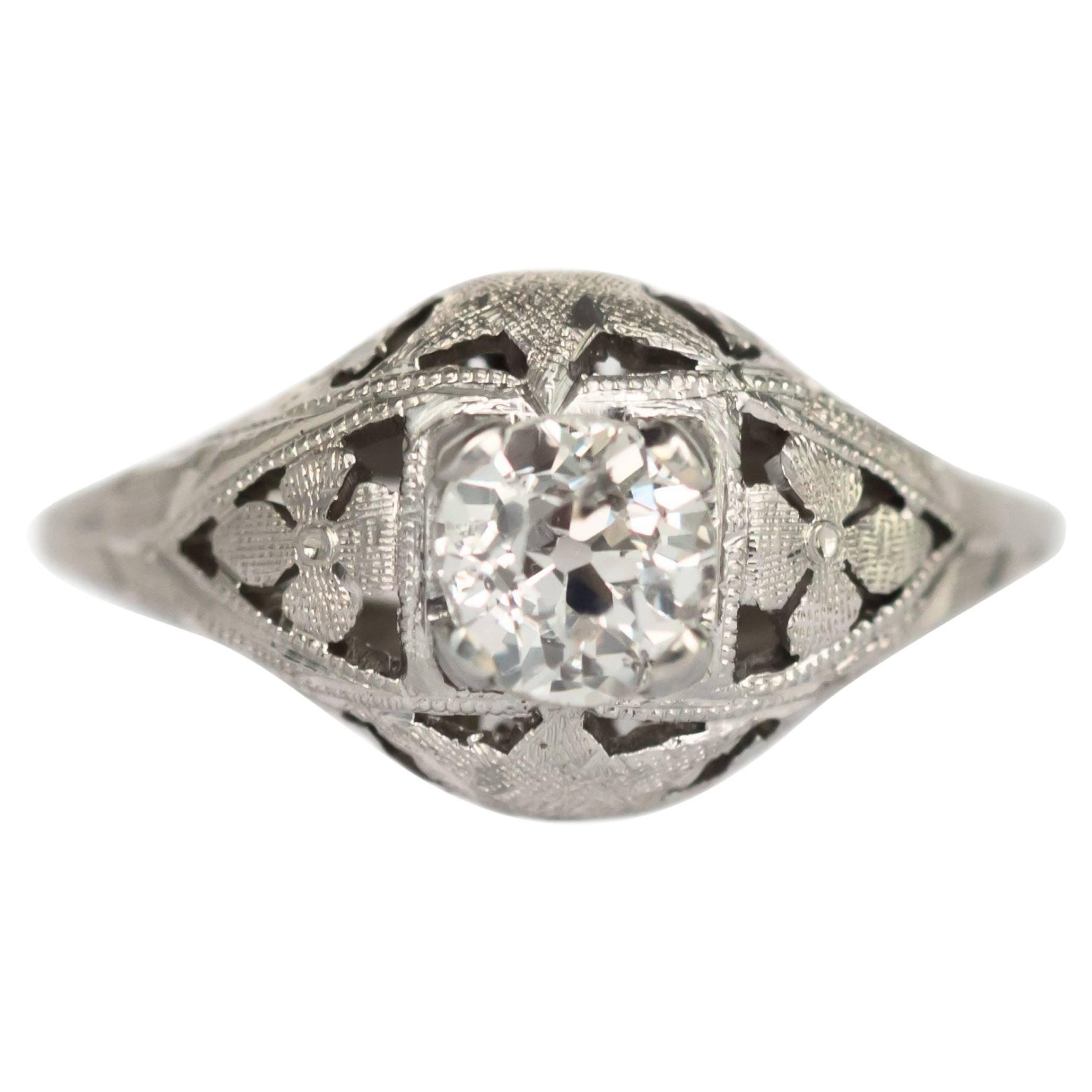 .65 Carat Diamond White Gold Engagement Ring