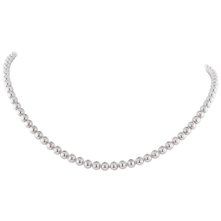 Cartier Diamonds White 4.62 Carat Tennis '4608' Necklace