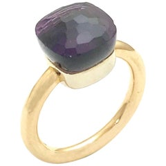 "Pomellato ""Nudo"" Amethyst Rose and White Gold Ring"