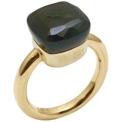 "Pomellato ""Nudo"" Garnet Rose and White Gold Fashion Ring"