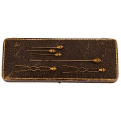 14 Karat Gold Hat Pin Set