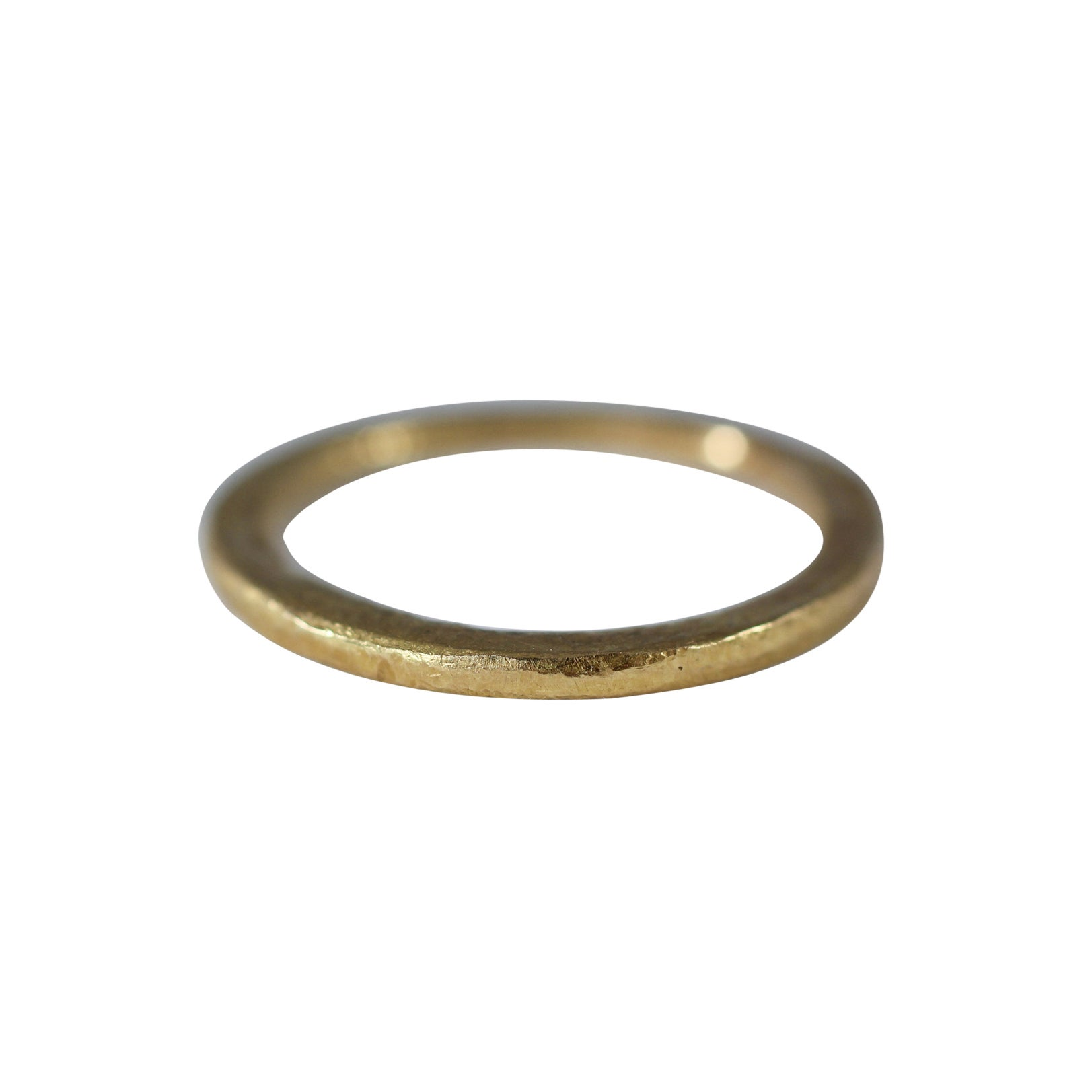 22 Karat Gold Wedding Band Ring Unisex Stacking Disk Design by AB Jewelry NYC