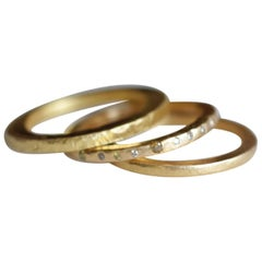 Wedding 22k Gold Small Band Ring More Contemporary Fashion Stacking Bridal ideas