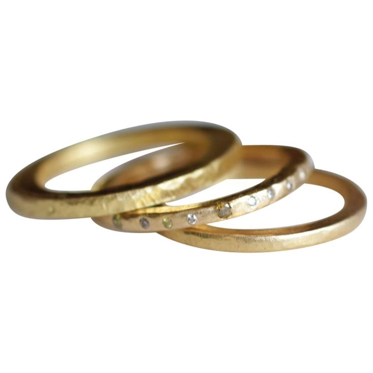 Small Band Stacking Ring 22k Gold, also in 18k, Sterling Silver, Oxidized Silver