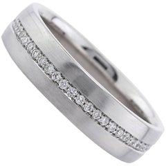 Mark Broumand Men's 0.50 Carat Round Brilliant Cut Diamond Eternity Wedding Band