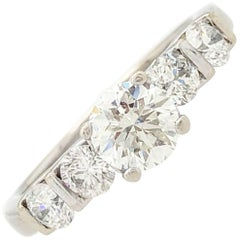 14 Karat .50 Carat Natural Round Brilliant Cut Diamond Engagement Ring SI2/H