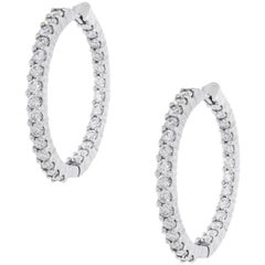 Roberto Coin 1.53 Carat Diamond Hoops