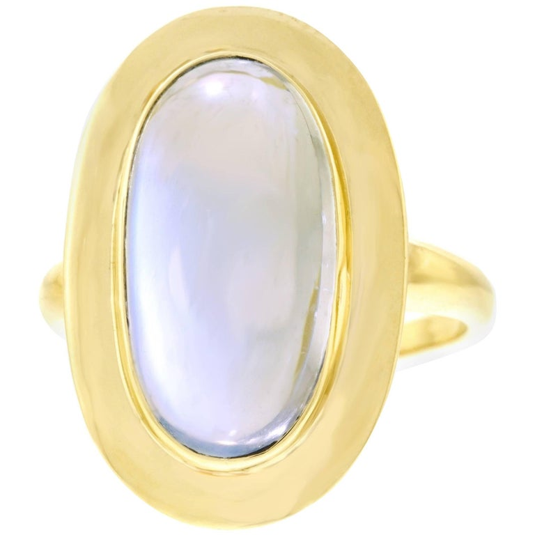 1950s Moonstone Set Gold Ring