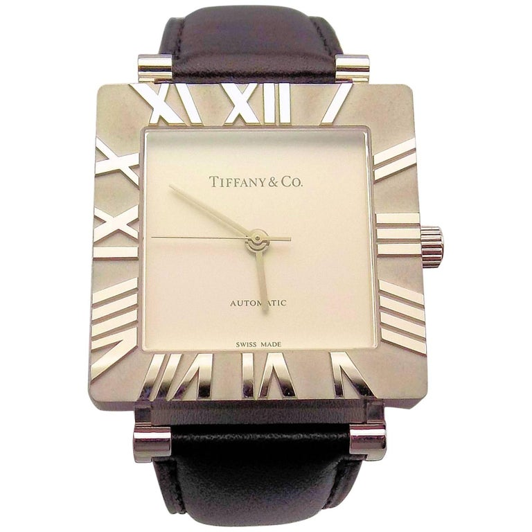 Tiffany & Co. Sterling Silver Atlas Automatic Wristwatch