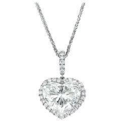 Mark Broumand 4.75 Carat Heart Shaped Diamond Pendant