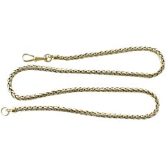 1960s French Braided 18 Karat Gold Necklace