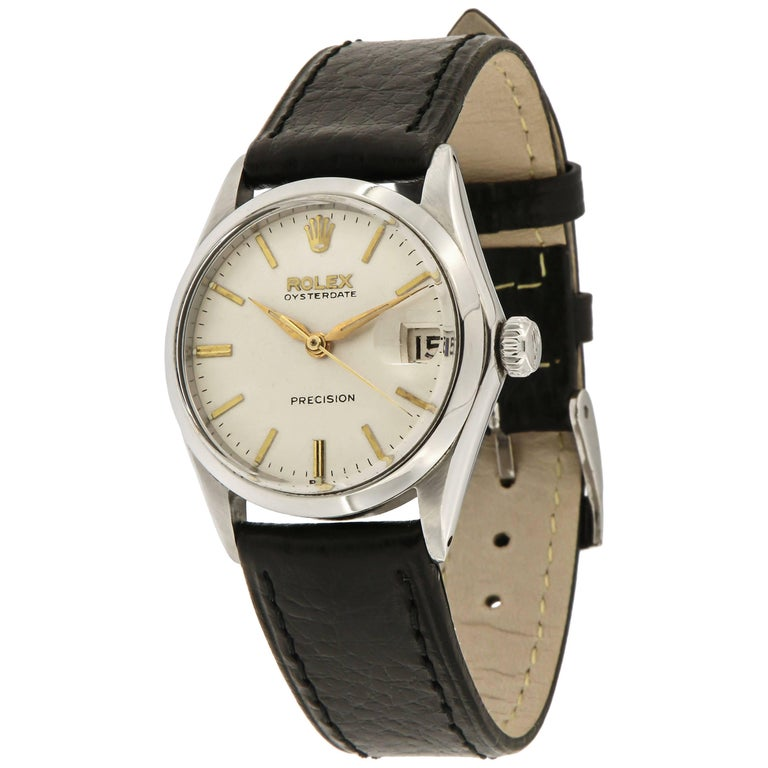 Rolex Stainless Steel Oyster Date Manual Wristwatch Ref 6430