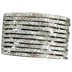Elma Designs 18 Karat White Gold and Diamond Cocktail Fashion Ring