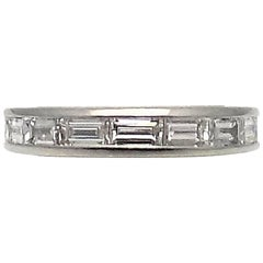 Kwiat Channel Set Baguette Cut Diamond and Platinum Wedding Ring