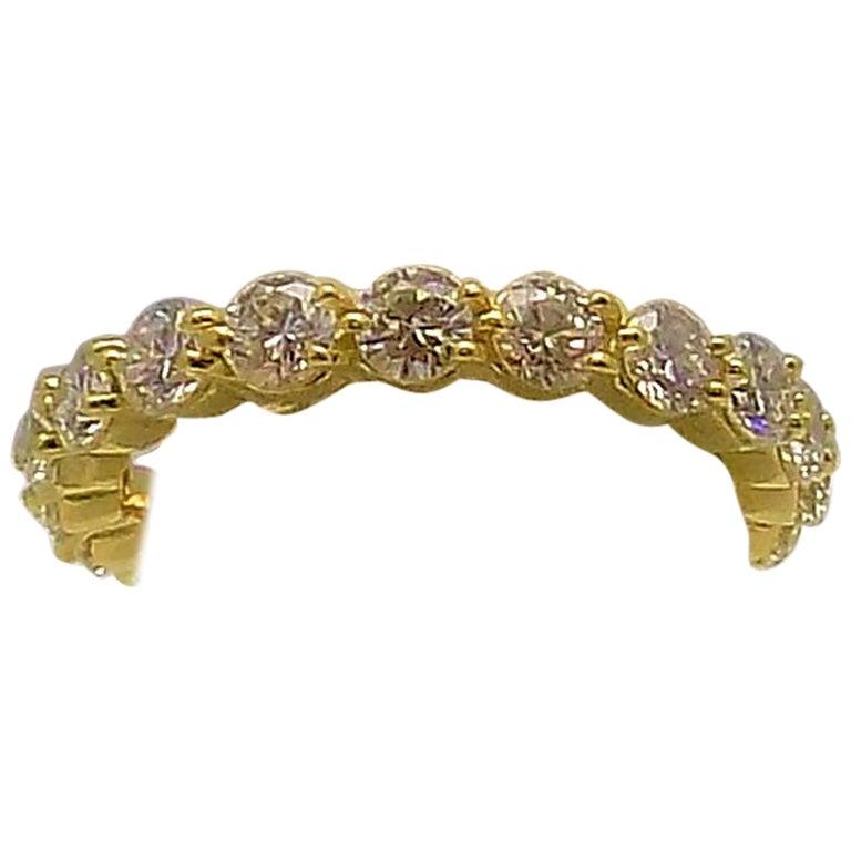 Tiffany & Co. 18 Karat Yellow Gold Diamond Eternity Band For Sale