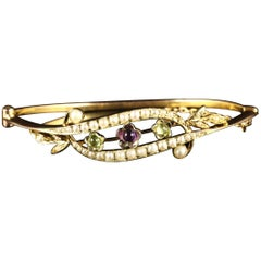 Antique Victorian 9 Carat Suffragette Bangle, circa 1900