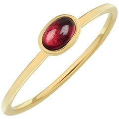 TPL Gold Garnet Stacking Ring