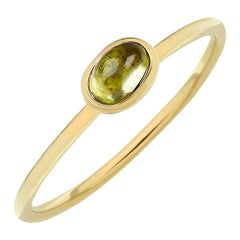TPL Gold Peridot Stacking Ring