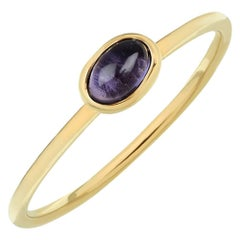 TPL Gold Iolite Stacking Ring