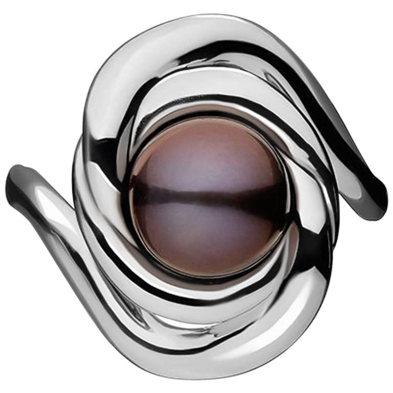 TPL Silver Peacock Pearl Ring
