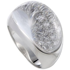 Cartier Myst Diamond and Rocky Crystal White Gold Ring