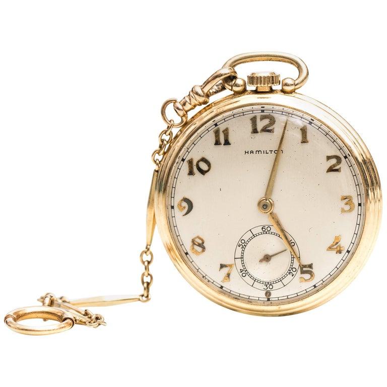 Hamilton Yellow Gold Pocket Watch, 1949