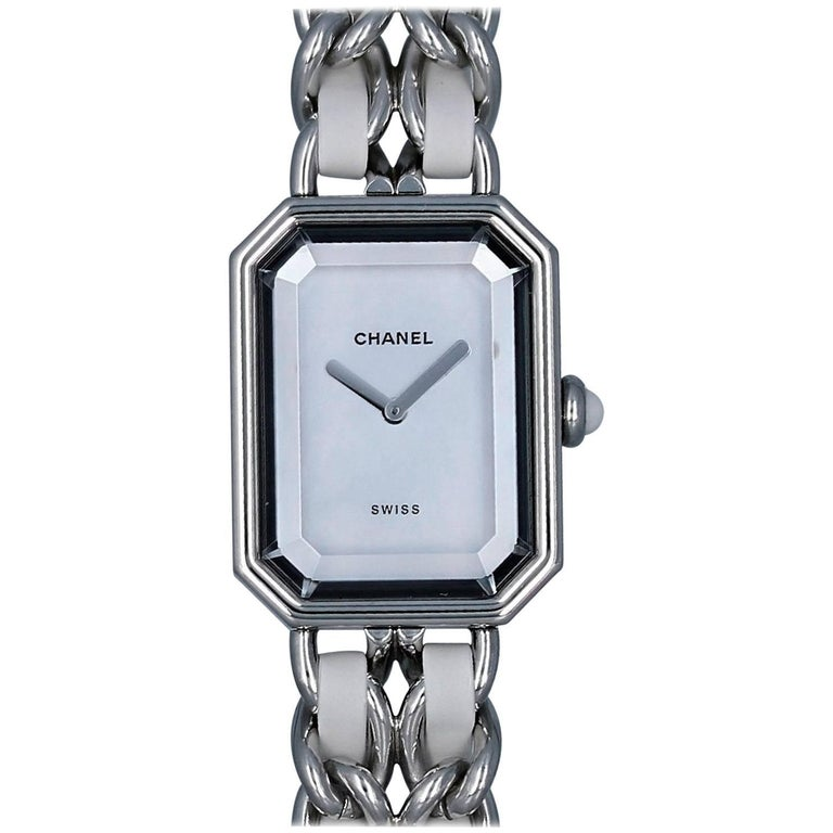 Chanel Ladies Stainless Steel Premiere Mother-of-Pearl Dial Quartz Wristwatch