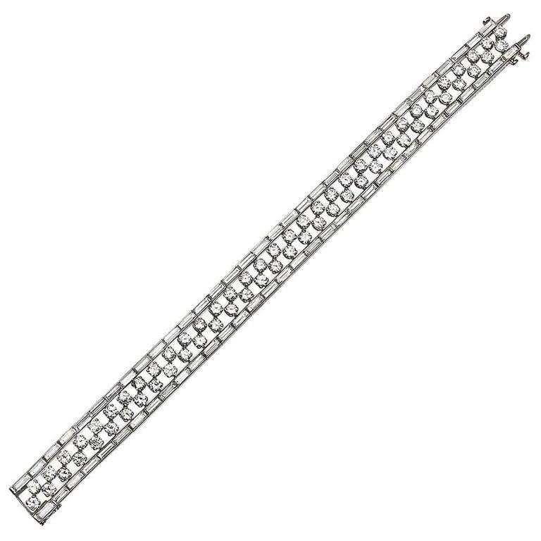 Van Cleef & Arpels Platinum Diamond Bracelet