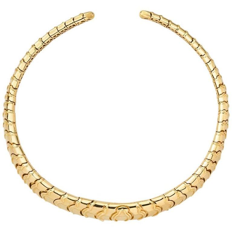 Marina B. 18 Karat Yellow Gold Choker Necklace