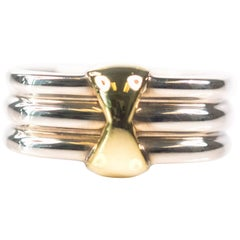 Tiffany & Co. Two-Tone 18 Karat White and Yellow Gold Ring